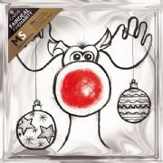 Multiple Sclerosis Trust Pack of 8 Rudolph Reindeer Charity Christmas Cards